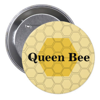 Teen Queen Bee Honeycomb Customized 7.5 Cm Round Badge