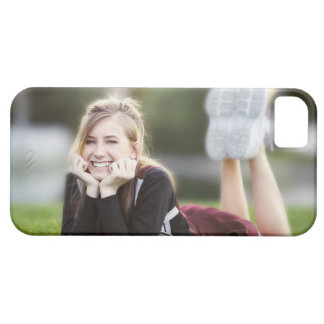 Teen relaxing on grass barely there iPhone 5 case