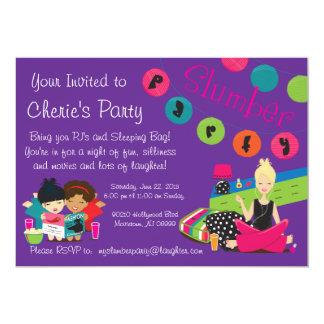 TEEN SLUMBER PARTY 13 CM X 18 CM INVITATION CARD