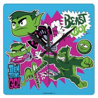 Teen Titans Go!   Beast Boy Shapeshifts Square Wall Clock