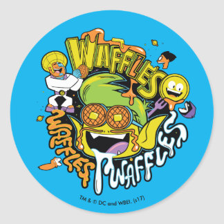 Teen Titans Go! | Beast Boy Waffles Classic Round Sticker