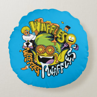 Teen Titans Go! | Beast Boy Waffles Round Cushion