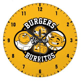 Teen Titans Go!   Burgers Versus Burritos Large Clock
