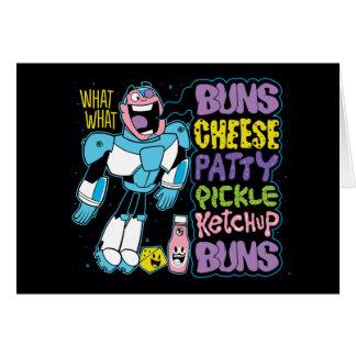 Teen Titans Go! | Cyborg Burger Rap Card