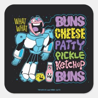 Teen Titans Go! | Cyborg Burger Rap Square Sticker
