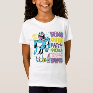 Teen Titans Go! | Cyborg Burger Rap T-Shirt