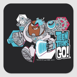 Teen Titans Go! | Cyborg's Arsenal Graphic Square Sticker