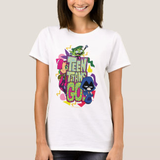 "Teen Titans Go! | ""Girls Girls"" Animal Print Logo T-Shirt"