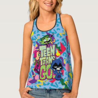 "Teen Titans Go! | ""Girls Girls"" Animal Print Logo Tank Top"