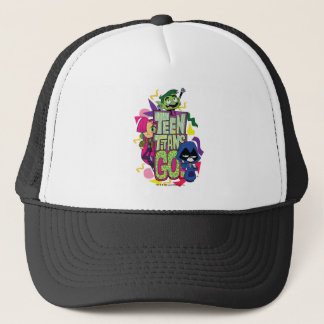 "Teen Titans Go! | ""Girls Girls"" Animal Print Logo Trucker Hat"