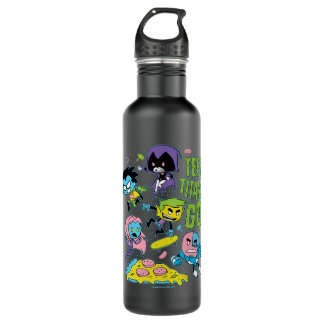 Teen Titans Go! | Gnarly 90's Pizza Graphic 710 Ml Water Bottle