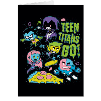 Teen Titans Go! | Gnarly 90's Pizza Graphic Card