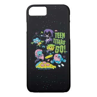 Teen Titans Go! | Gnarly 90's Pizza Graphic iPhone 8/7 Case