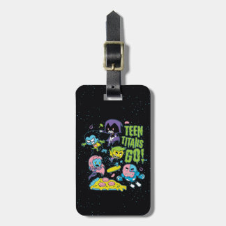 Teen Titans Go! | Gnarly 90's Pizza Graphic Luggage Tag
