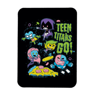 Teen Titans Go! | Gnarly 90's Pizza Graphic Magnet