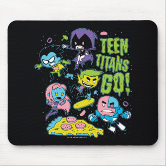 Teen Titans Go! | Gnarly 90's Pizza Graphic Mouse Mat