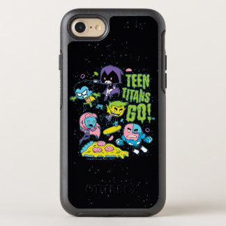 Teen Titans Go! | Gnarly 90's Pizza Graphic OtterBox Symmetry iPhone 8/7 Case