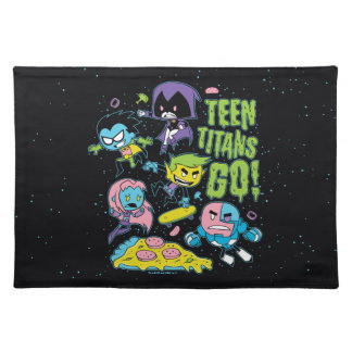 Teen Titans Go! | Gnarly 90's Pizza Graphic Placemat