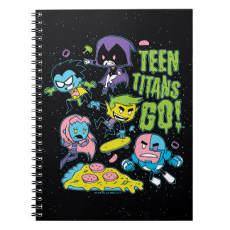 Teen Titans Go! | Gnarly 90's Pizza Graphic Spiral Notebook