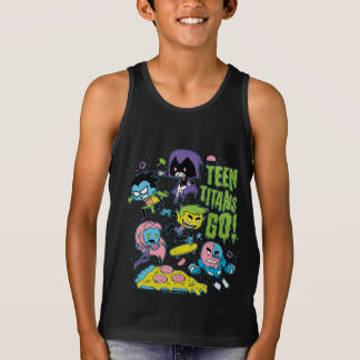 Teen Titans Go! | Gnarly 90's Pizza Graphic Tank Top