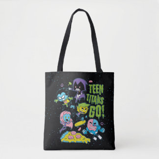 Teen Titans Go! | Gnarly 90's Pizza Graphic Tote Bag
