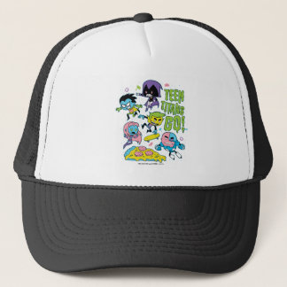 Teen Titans Go! | Gnarly 90's Pizza Graphic Trucker Hat