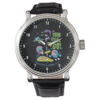 Teen Titans Go! | Gnarly 90's Pizza Graphic Watch