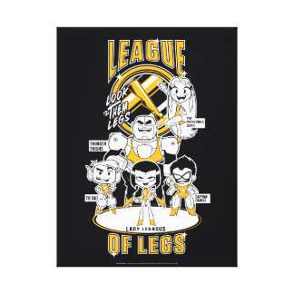 Teen Titans Go! | League of Legs Canvas Print