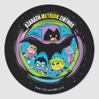"Teen Titans Go! | Raven ""Azarath Metrion Zinthos"" Classic Round Sticker"