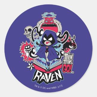 Teen Titans Go! | Raven Demonic Powers Graphic Classic Round Sticker