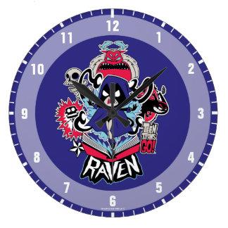 Teen Titans Go!   Raven Demonic Powers Graphic Large Clock