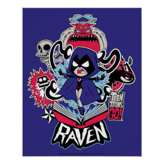 Teen Titans Go! | Raven Demonic Powers Graphic Poster