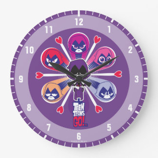 Teen Titans Go! | Raven's Emoticlones Large Clock