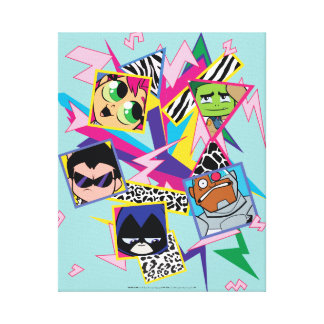 Teen Titans Go! | Retro 90's Group Collage Canvas Print