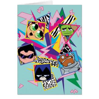 Teen Titans Go! | Retro 90's Group Collage Card