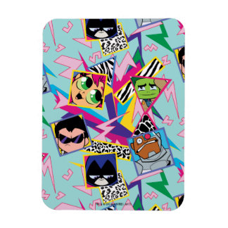 Teen Titans Go! | Retro 90's Group Collage Magnet