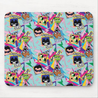 Teen Titans Go! | Retro 90's Group Collage Mouse Mat