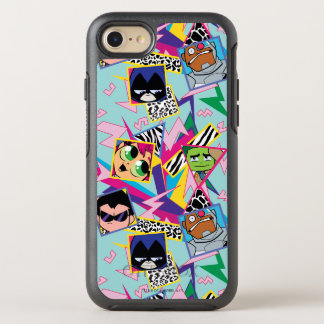 Teen Titans Go! | Retro 90's Group Collage OtterBox Symmetry iPhone 8/7 Case