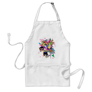 Teen Titans Go! | Retro 90's Group Collage Standard Apron