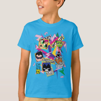 Teen Titans Go!   Retro 90's Group Collage T-Shirt