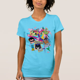 Teen Titans Go! | Retro 90's Group Collage T-Shirt