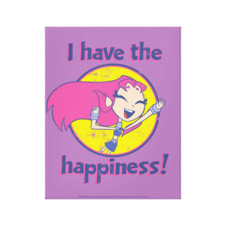 "Teen Titans Go! | Starfire ""I Have The Happiness"" Canvas Print"