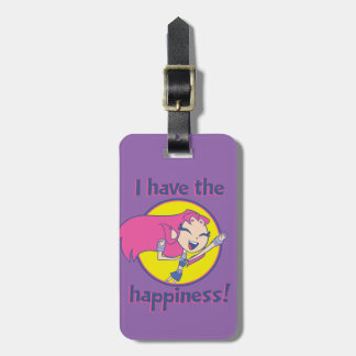 "Teen Titans Go! | Starfire ""I Have The Happiness"" Luggage Tag"