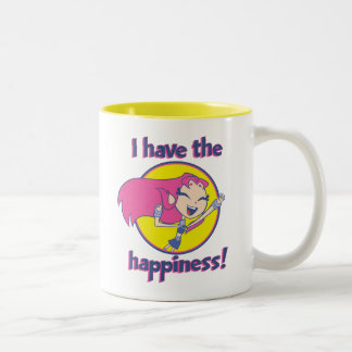 "Teen Titans Go! | Starfire ""I Have The Happiness"" Two-Tone Coffee Mug"