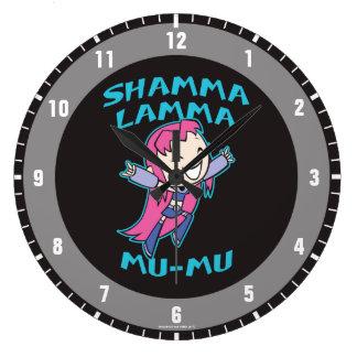 """Teen Titans Go!   Starfire """"Shamma Lamma Mu-Mu"""" Large Clock"""
