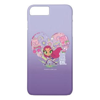 Teen Titans Go! | Starfire's Heart Punch Graphic iPhone 8 Plus/7 Plus Case