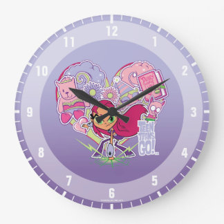 Teen Titans Go! | Starfire's Heart Punch Graphic Large Clock