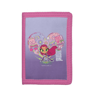 Teen Titans Go! | Starfire's Heart Punch Graphic Tri-fold Wallet