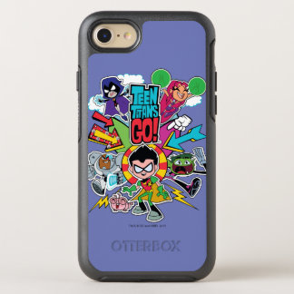 Teen Titans Go! | Team Arrow Graphic OtterBox Symmetry iPhone 8/7 Case