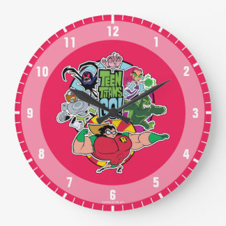 Teen Titans Go! | Team Group Graphic Large Clock